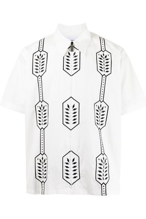 Ports V Geometric-print cotton shirt