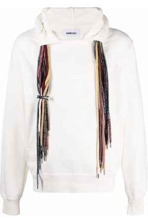 AMBUSH Men Sweatshirts - MULTICORD HOODIE SWEATSHIRT OFF WH