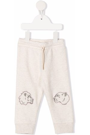 Kenzo Sports Trousers - Embroidered animal track pants