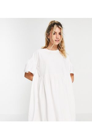 In The Style Women Summer Dresses - X Olivia Bowen exclusive smock dress with fluted sleeves in