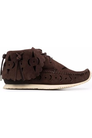 visvim Men Loafers - Cut-out moccasin ankle boots