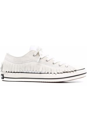 Palm Angels Men Sneakers - Fringe Basked low vulcanized sneakers