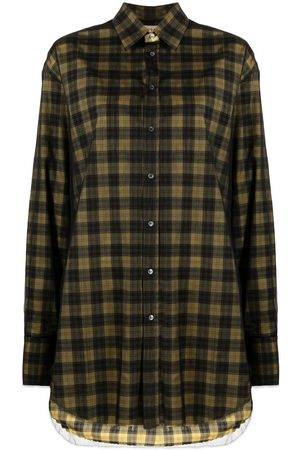 Nº21 Oversized checked buttoned shirt