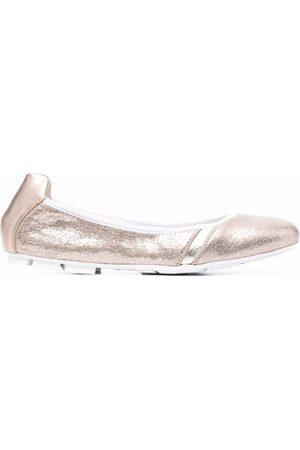 Hogan Metallic ballerina shoes
