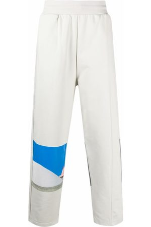A-cold-wall* Men Trousers - Embroidered-logo organic-cotton track trousers