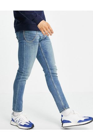 New Look Skinny jeans with chain in mid washed