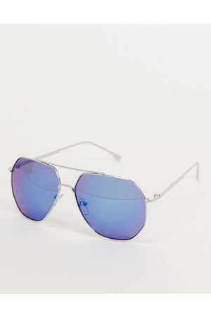 Jeepers Peepers Womens square sunglasses with blue lens in