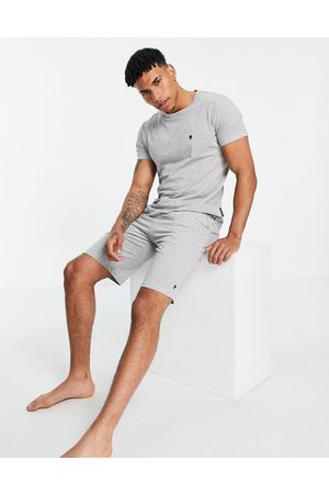 French Connection Jogger set in light melange and marine