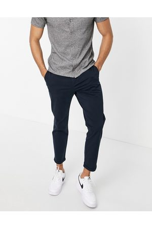 New Look Pleated chino trousers in