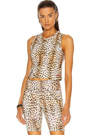 R13 Active Cropped Tank Top in Cheetah