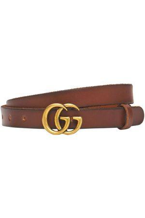 Gucci Women Belts - 2cm Gg Marmont Leather Belt