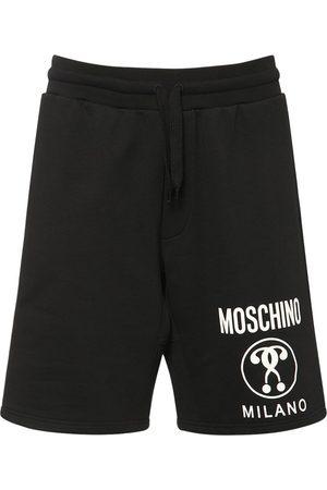 Moschino Men Shorts - Logo Cotton Jersey Shorts