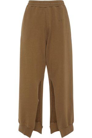 MM6 MAISON MARGIELA Women Sports Trousers - Cotton Sweatpants W/slits
