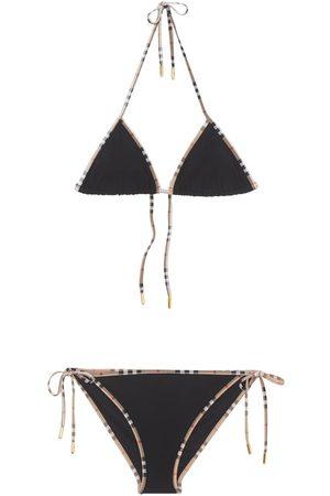 Burberry Nylon Check Printed Bikini