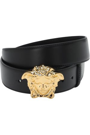 VERSACE Men Belts - 40mm Leather Belt W/ Medusa Buckle