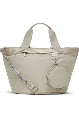 Nike Futura Luxe tote bag in stone with mini keyring pouch