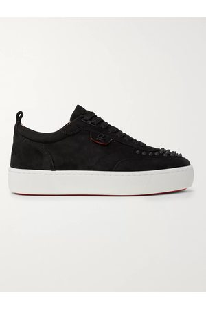 Christian Louboutin Men Sneakers - Happyrui Spiked Leather Sneakers