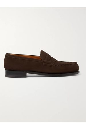 J.M. Weston Men Loafers - 180 Moccasin Suede Loafers