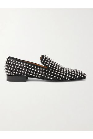 Christian Louboutin Men Loafers - Dandelion Spiked Suede Loafers