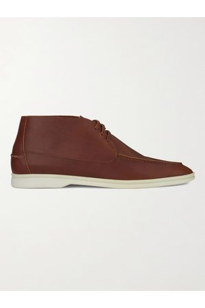 Loro Piana Men Boots - Sailing Walk Leather Desert Boots