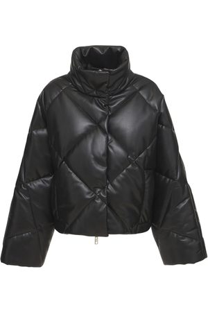 Stand Studio Aina Padded Faux Leather Puffer Jacket