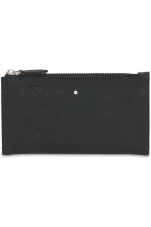 Mont Blanc Men Wallets - Logo Sartorial Leather Mini Zip Pouch