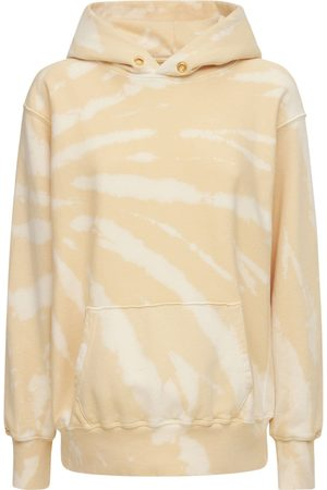 Les Tien Women Sweatshirts - Cropped Cotton Sweatshirt Hoodie