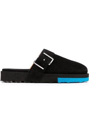 OFF-WHITE Men Footwear - Buckle-detail Sponge slippers