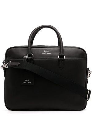 Polo Ralph Lauren Men Laptop Bags - Logo-print leather briefcase