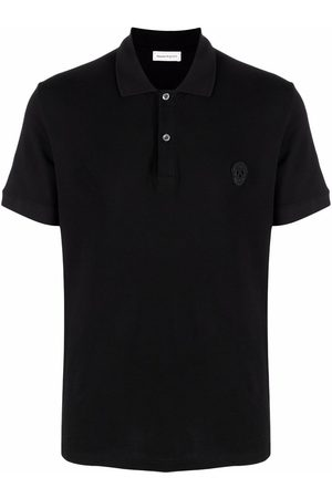 Alexander McQueen Skull embroidered short-sleeve polo shirt