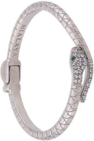 Nialaya Jewelry Women Bangles - Crystal-embellished snake bangle