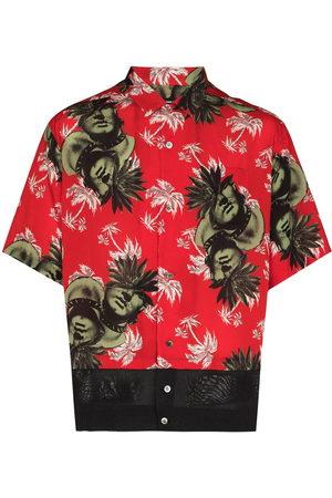 UNDERCOVER Men Short sleeves - Face-print short-sleeve shirt