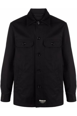 Alexander McQueen Men Shirts - Logo-patch shirt jacket
