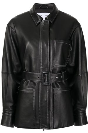 PROENZA SCHOULER WHITE LABEL Women Leather Jackets - Belted leather jacket