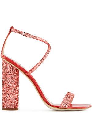 Giuseppe Zanotti Tara glitter block-heel sandals