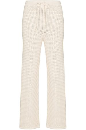 Reformation Open-knit drawstring trousers