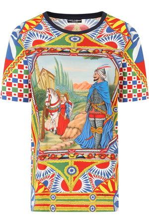 Dolce & Gabbana Graphic-print multi-panel T-shirt