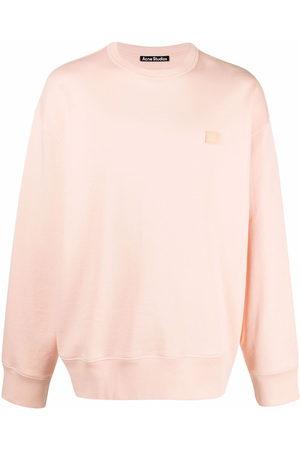 Acne Studios Sweatshirts - Face patch oversized sweatshirt