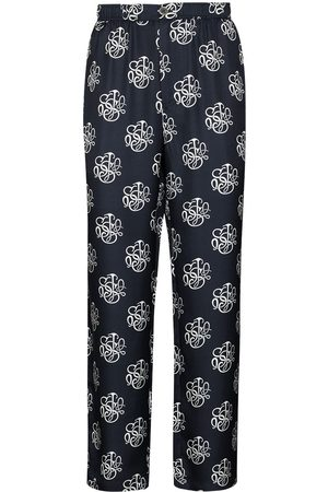 Soulland Men Slim Trousers - Logo-print slim-leg trousers