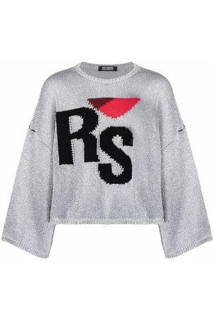 RAF SIMONS Intarsia-logo jumper
