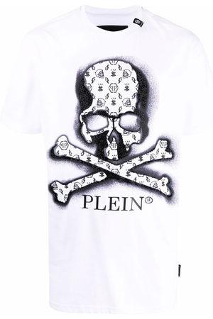 Philipp Plein Men Short Sleeve - Skull-print logo T-shirt