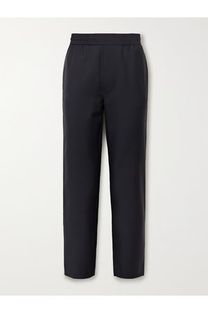 Acne Studios Men Formal Trousers - Pismo Wool and Mohair-Blend Trousers
