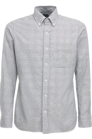 Tom Ford Men Shirts - Cotton Prince Of Wales Leisure Shirt