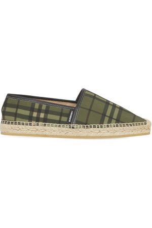 Burberry Women Casual Shoes - 10mm Alport Check Canvas Espadrilles