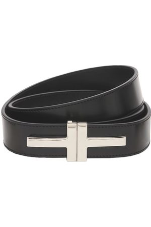Tom Ford 4cm Double T Leather Belt