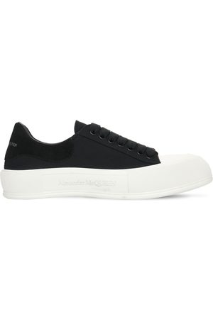 Alexander McQueen Men Sneakers - Canvas Low Top Sneakers