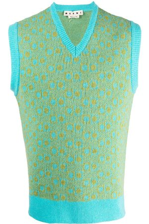Marni Geometric knitted vest