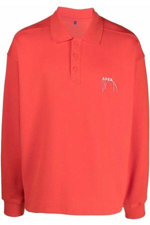Ader Error Needle logo polo shirt