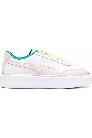 PUMA Chunky colour-block leather sneakers