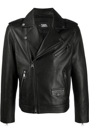 Karl Lagerfeld Men Leather Jackets - Ikonic leather biker jacket